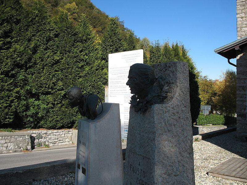 Ghisallo standbeeld Coppi en Bartali