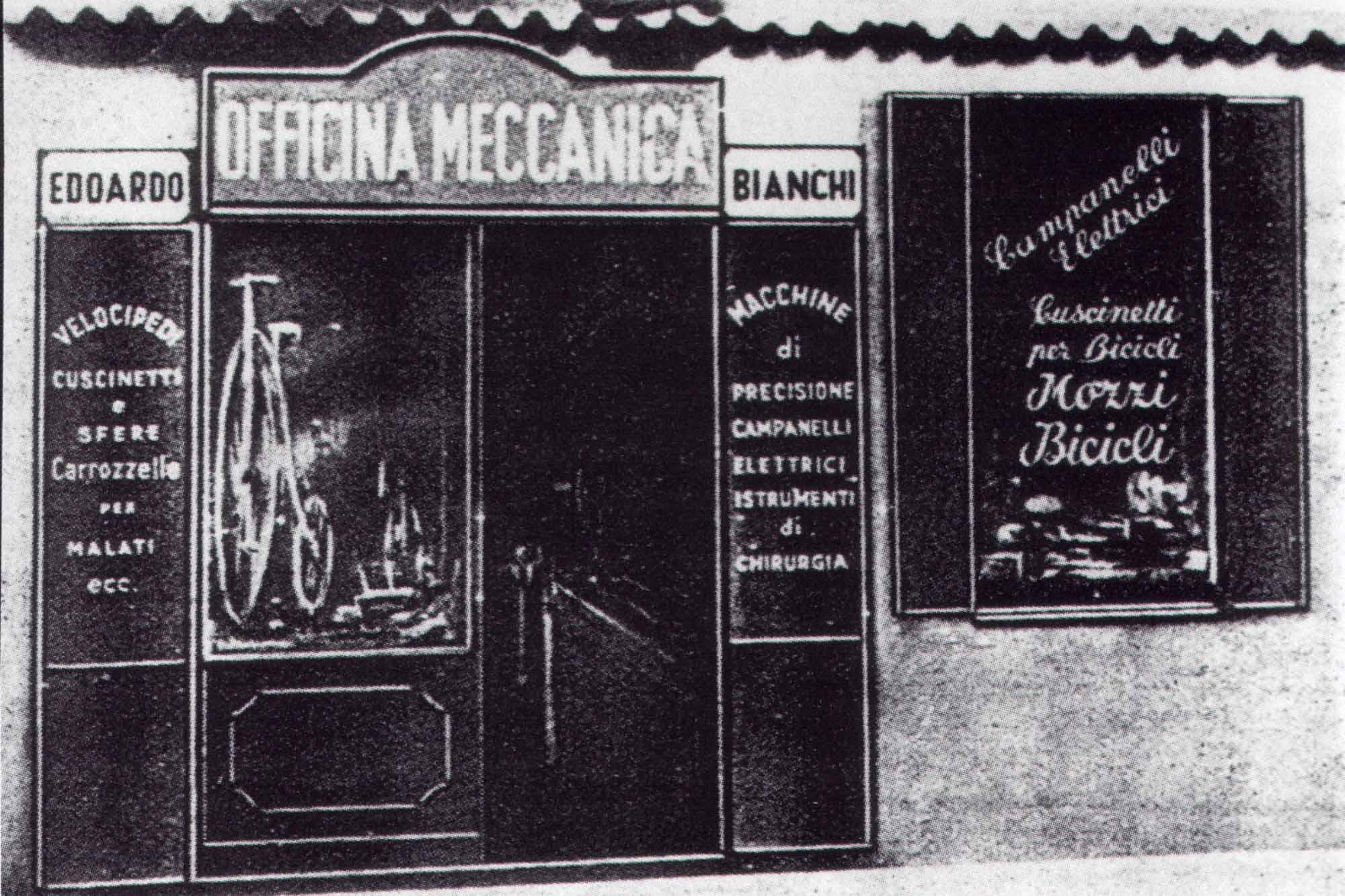 Bianchi fietsenwinkel Milaan