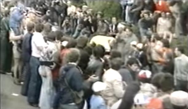 Eddy Merckx Tour de France 1975 slag in lever