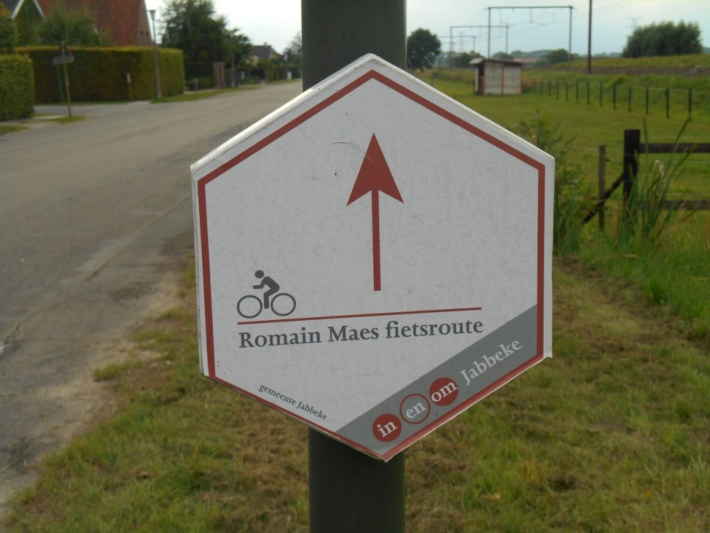 Romain Maes fietsroute