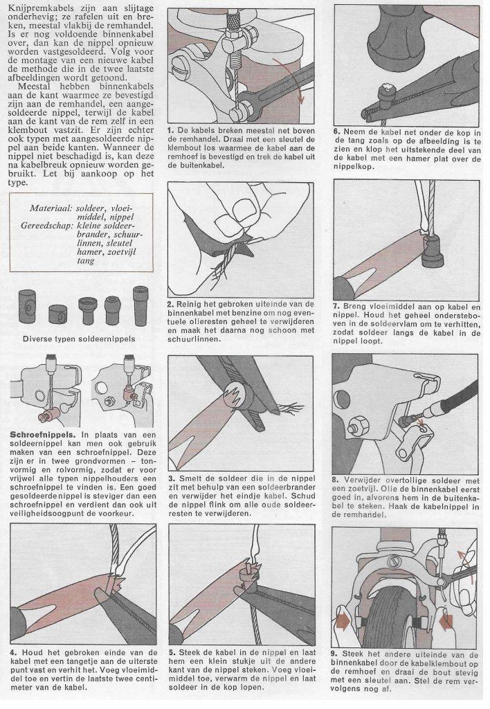 reparatie kabel fiets